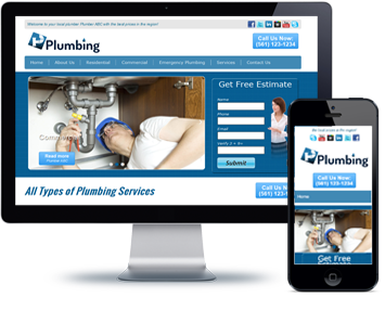 plumbing website design demo websites